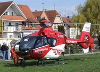 D-HYYY - Eurocopter EC135P2+ EMS-helicopter of the DRS-Luftrettung at the lakeside park in Langenargen on the shores of Lake Constance (Bodensee) for an informational display for emergency personnel