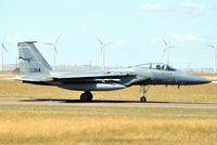 84-0014 @ GTF - 120th FW (Montana ANG) F-15C 014 taxiing on a windy day at GTF. - by Jim Hellinger