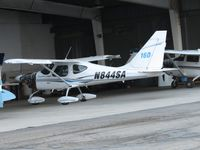 N844SA @ CCB - Parked in Foothill Aircraft Sales & Service hanger, with engine cowling removed