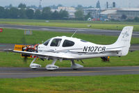 N107CB @ EGBJ - performing ground engine runs - by Chris Hall