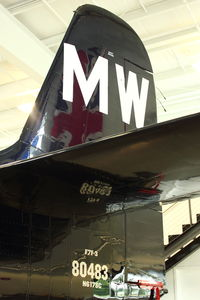 N6178C @ PAE - Tail of N6178C (Bad Kitty), Grumman F7F-3, c/n: 80483