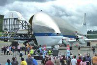 N941NA @ BFI - Nasa Guppy , Airbus 377SGT-F, c/n: 4 unloading its cargo at BFI