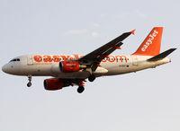 G-EZIY @ LEBL - Landing rwy 25R - by Shunn311