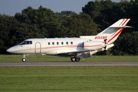 N155NS @ ORF - Norfolk Southern Railway Co's 2001 Raytheon Hawker 800XP N155NS rolling out on RWY 5 after landing.