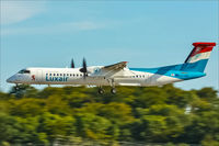 LX-LGA @ ELLX - DHC-8-402Q - by Jerzy Maciaszek