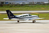 N106CA @ TJSJ - A Cape Air Cessna 402C departs the San Juan ramp with a full load. - by Daniel L. Berek