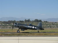 N83782 @ CMA - 1942 Chance Vought/Maloney F4U-1 CORSAIR, P&W R-2800 Double Wasp 2,450 Hp, taxi to 26 - by Doug Robertson