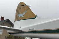 N8523 @ S60 - Tail of 1958 Dehavilland BEAVER U-6A, c/n: 57-6161