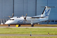 C-FYDH @ CYVR - Hawkair 1987 Dehavilland DHC-8-102, c/n: 083 - by Terry Fletcher