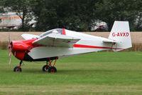 G-AVXD @ EGBR - Slingsby T.66 Nipper 3 at The Real Aeroplane Club's Wings & Wheels weekend, Breighton Airfield, September 2012. - by Malcolm Clarke