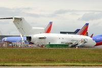 N511FE @ PAE - 1965 Boeing 727-25, c/n: 18283 WFU at Everett