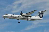 N447QX @ CYVR - Bombardier DHC-8-402, c/n: 4364