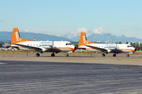 C-FYDU @ CYVR - A pair of Air North HS748s at Vancouver Int