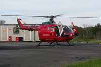 G-WAAS @ EGFH - Welshpool Airport based Wales Air Ambulance helicopter (Helimed 59) drops in for fuel. Replaced by weather RADAR equiped EC-125T-2+ G-WASC as the mid-Wales based helicopter on 2nd November 2012. - by Roger Winser