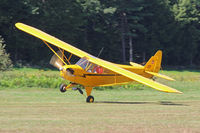 N70497 @ EEN - One wheel touch, grass strip on 14-32, Dillant-Hopkins Airport, Keene, NH, airshow - by Ron Yantiss