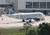 N914FR @ MCO - Stretch the Egret Frontier A319