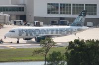 N914FR @ MCO - Stretch Frontier A319