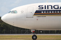 9V-STP @ YBBN - Singapore Airlines Airbus A330 - by Thomas Ranner