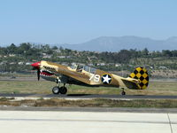N85104 @ CMA - Curtiss-Wright/Maloney P-40N KITTIHAWK IV, Allison V-1710-81 1,360 Hp, Limited class, taxi to Rwy 26 - by Doug Robertson
