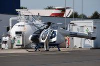 D-HVST @ EDBM - Helicopter of the regional Magdeburg newspaper Volksstimme = VST. Airport Magdeburg (ZMG/EDBM). - by Tomas Milosch