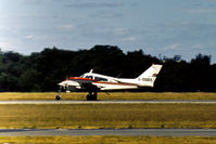 G-BBBX @ BOH - Cessna E310L taxying at Bournmouth Hurn in the Summer of 1976. - by Peter Nicholson