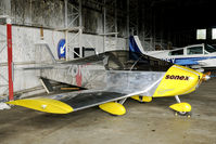 G-ZONX - I really don't know what to think about this aircraft... Seen in the hangar at Kirknewton (SCO)