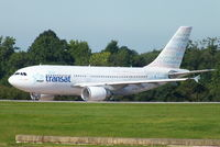 C-GLAT @ EGCC - Air Transat Welcome livery - by Chris Hall