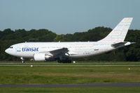 C-GLAT @ EGCC - Air Transat Welcome livery - by Chris Hall