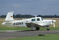 D-EDVX @ EDAY - Mooney M.20E Aerostar 201 Chaparral at Strausberg airfield - by Ingo Warnecke