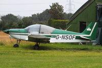 G-NSOF @ EGSP - at Peterborough Sibson - by Chris Hall