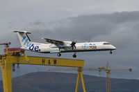 G-ECOA @ EGAC - On approach to George Best Belfast City Airport. - by Jonathan Allen