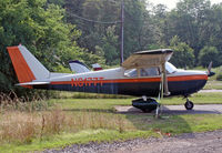 N8177T @ 39N - Interesting old Cessna at Princeton Airport. - by Daniel L. Berek