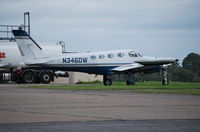 N346DW @ EGTF - Cessna 340A at Fairoaks - by moxy
