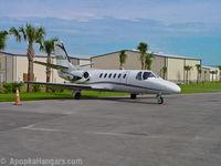 N550LA @ X04 - Transient aircraft on the ramp. - by ApopkaHangars.com
