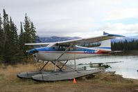C-FBEA - On the shore of the Yukon River downstream from Whitehorse, Yukon. - by Murray Lundberg