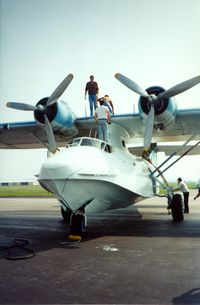 UNKNOWN @ SET - PBY Catalina at St. Charles County Smartt Airport, St. Charles, MO. In 1992 the FAA identifier was 3SZ. - by scotch-canadian