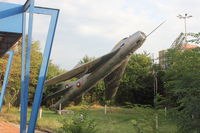 001 - Mikoyan Gurevich MiG-19PM on a pole outside BVVS Headquarters, Tsarigradsko Shose