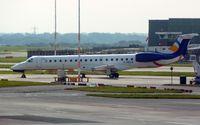 F-HELA @ EGCC - 1999 Embraer EMB-145EU, c/n: 145167 at Manchester , ex G-EMBK , SX-CMB and  UP-EM003