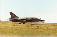 237 @ EGQS - Mirage F.1CT, callsign French Air Force 5722, of EC 1/3 taxying to the active runway at RAF Lossiemouth in the Summer of 1995. - by Peter Nicholson