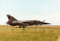 258 @ EGQS - Mirage F.1CT, callsign French Air Force 5722, of EC 1/3 taxying to the active runway at RAF Lossiemouth in the Summer of 1995. - by Peter Nicholson