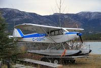 C-GQHC @ CEZ5 - On a trailer beside Schwatka Lake, Whitehorse, Yukon - by Murray Lundberg