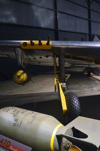 45-49167 @ KFFO - AF Museum  shown as 44-32718;  Bomb and wing mounted .50 cal guns. - by Ronald Barker