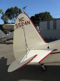 N5524N @ SZP - 1943 Howard DGA-15P 'Mr. Hooligan', P&W R-985 Wasp Jr. 450 Hp, tail logo - by Doug Robertson