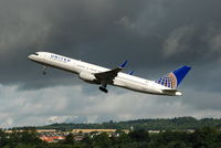 N41135 @ EGPH - Departing Rwy 24 before a threatening Edinburgh sky, bound for New York - by DavidBonar