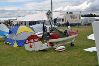 G-BUJK @ EGBP - Bensen B.8MR Gyrocopter [PFA G/01-1211] Kemble~G 10/07/2004