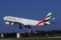 A6-ERS @ LMML - A340 A6-ERS Emirates Airlines - by Raymond Zammit