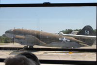 43-47350 @ KNPA - At the Naval Aviation Museum.  Looking out the opposite side of the bus - the only way I could see it. - by Glenn E. Chatfield