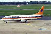 D-AHLS @ EDDL - Boeing 737-4K5 [27074] (Hapag-Lloyd) Dusseldorf~D 31/08/1996. - by Ray Barber