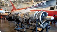 55-5119 @ KFFO - AF Museum engine for F-107 - by Ronald Barker