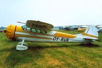 OY-RUK @ EKVJ - Cessna 195 [7358] Stauning~OY 10/06/2000